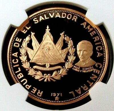 1971 Gold El Salvador 200 Colones Ngc Proof 66 Ultra Cameo Independence #1491