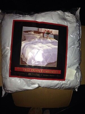 pacific coast feather real down comforter queen new in pkg