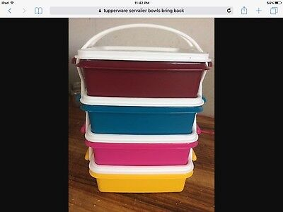 Tupperware Cariolier Set in Bring Back Colours