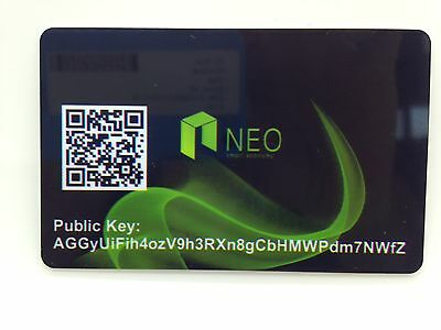 NEO Ant Share PVC Plastic Wallet Durable SAFE and SECURE Cold Storage Card