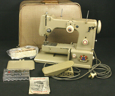 PFAFF Model 330 Sewing Machine German Made w/ Carry Case - Tested Works!
