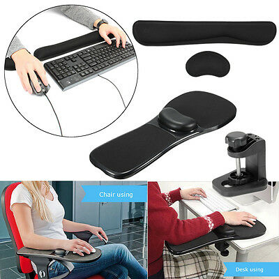 AU Ergonomic Home Office Computer Arm Rest Chair Desk Wrist Mouse Pad Support