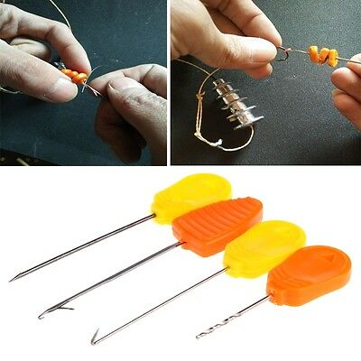 1/10pcs Fishing Carp Splicing Needle Baiting Hook Drill Rig Making Accessories