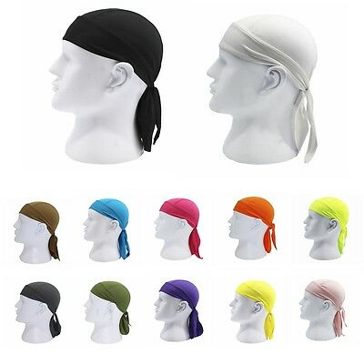 Fitted Tied Mens Womens Pure Color Hat Biker Motorcycle Bandana Head Wrap Newest