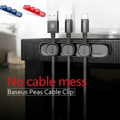Baseus Peas Durable Magnetic Cable Clip USB Cable Organizer Charger Wire Holder