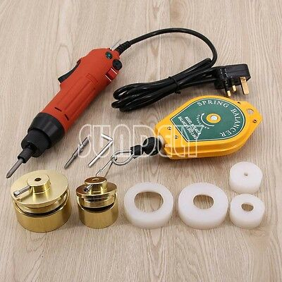 Handheld Bottle Capping Machine Electric Screw Capper Sealing Machine 220V UK