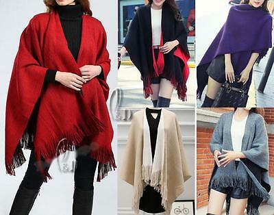 WHOLESALE BULK LOT OF 10 MIXED COLOUR Poncho Colour Cloak Coat SCARF/SHAWL sc037
