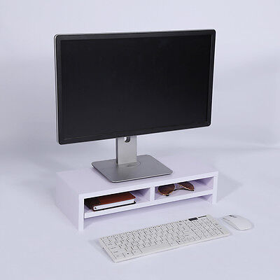Computer Monitor Riser Laptop Screen TV/Imac Desktop Stand Storage Table Shelf