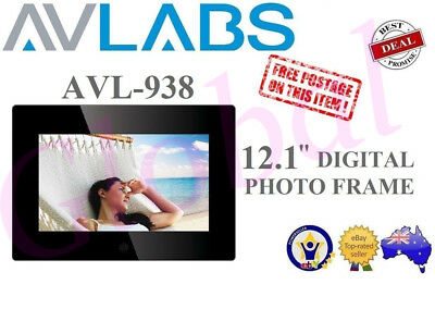 "12 .1"" High Res Digital Photo Frame Video & Music Alarm Clock Calendar Avl938"