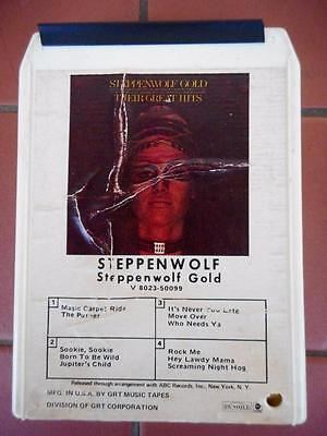 Vintage Steppenwolf 'Steppenwolf Gold' 8-Track Cassette Tape Perfect Working