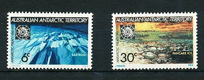 Australian Antarctic Territory 1971 Antarctic Treaty, set of 2, Mint Hinged