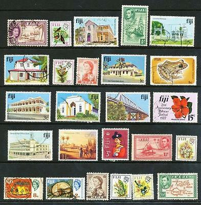 FIJI 25 ALL DIFFERENT STAMPS (b)