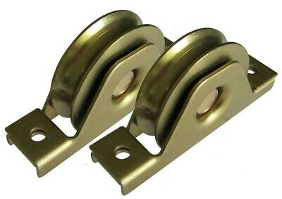Sliding Gate Wheels, Set of 2 x 90mm U Groove Bearing Rollers * 3 YEAR WARRANTY*