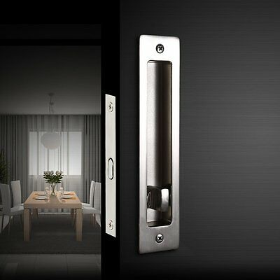 Invisible Door Locks Handle with Keys for Sliding Barn Wood Furniture Hardware