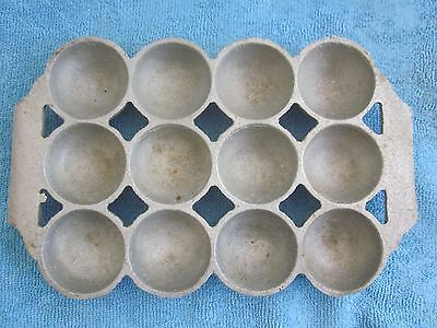 "vintage GEM SCONE alloy BAKING TRAY - 12 segments x 4cm / 1 1/2"" diametre"