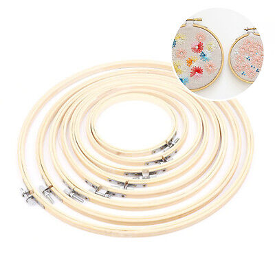 "5.12 ""- 13.39"" Wooden Cross Stitch Machine Embroidery Hoop Ring Bamboo Sewing"