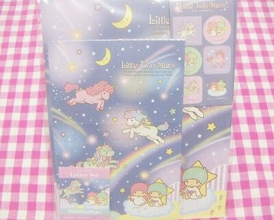 Sanrio Little Twin Stars Kiki Lala Unicorn Letter Set / Japan 2017 Stationery