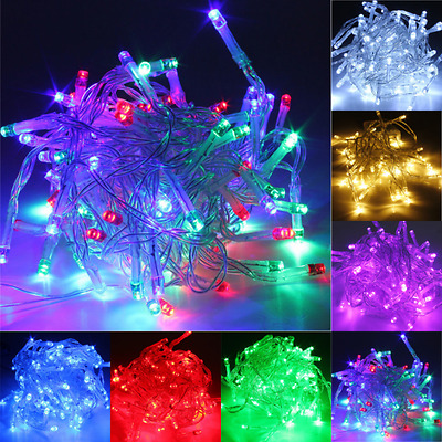 1/2/3/4/5/10m LED String Fairy Lights Battery Operated Xmas Party Room Decor