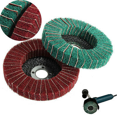 "4"" 120/240 Grit Nylon Fiber Flap Sanding Disc Wheel 100m Polishing Buffing Pad"