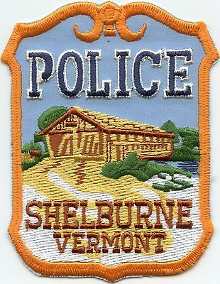 SHELBURNE VERMONT VT Covered Bridge POLICE PATCH