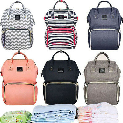 Genuine LAND Mummy Backpack Multifunctional Changing Baby Nappy Bag Waterproof