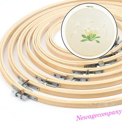 13-34cm Bamboo Cross Stitch Hand Embroidery Hoops Round Frames Sewing Crafts DIY