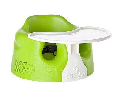 Bumbo Lime Floor Seat And Play Tray Combo