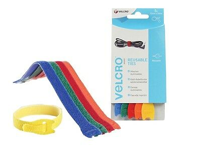 VELCRO® Brand Coloured One-Wrap Reusable Adjustable Cable Ties x5 12MM x 20CM