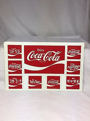 Vtg 1986 New Unused Postcard Foreign Coca Cola Advertising Stickers Post Card