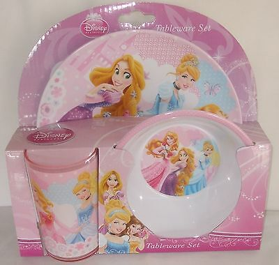 Disney Princess Tableware Set Children's Child's Melamine Dinner Set