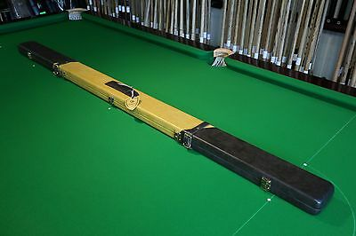 Green Baize GBL 1pc 2 Section Real Leather Cue Case, Chesworth Cues, Sheffield