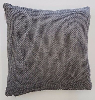 Silver Grey Weave Luxury Soft Chenille Cushion Cover £6.99 Each Free Postage