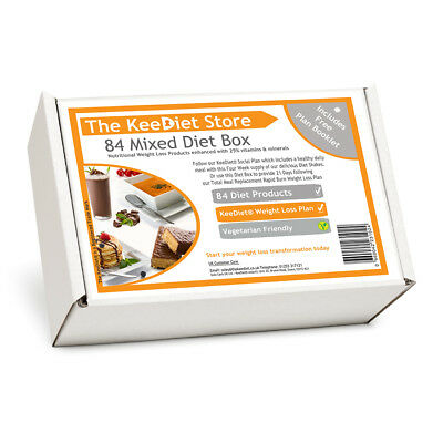 KeeDiet® 84 Meal Replacement VLCD Mixed Diet Meals,Shakes,Soups,Bars + Delivery