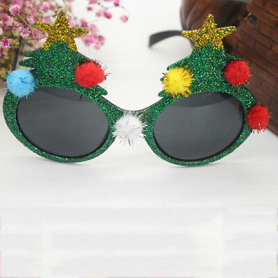 Christmas Tree Sunglasses Xmas Party Glasses Photo Booth Prop Gift Cool