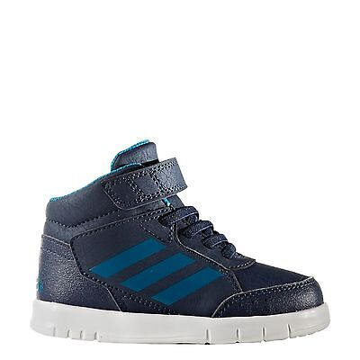 Adidas Kids Infant Boys Shoes Altasport Performance Mid Trainers BB6207 Blue
