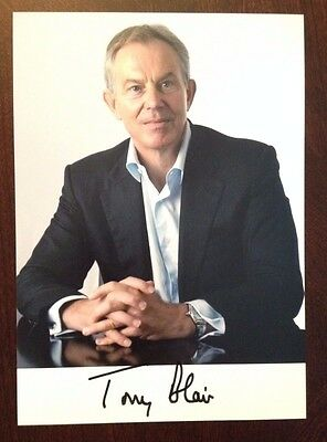 Tony Blair British Prime Minister United Kingdom Signed Autograph 5x7 Photo