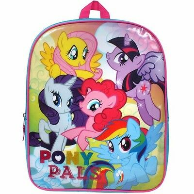 """My Little Pony Girls Pony Pals 15"""" Kids Backpack School Book Bag Padded Straps"""