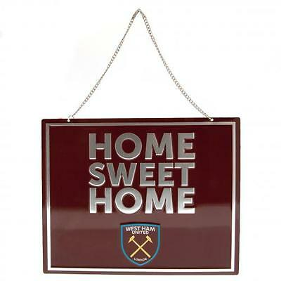 West Ham United F.C. Home Sweet Home Hanging Metal Sign ( f47hswwh )