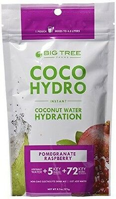Coco Hydro Instant Coconut Water, Pomegranate Raspberry, 9.7-Ounce Package