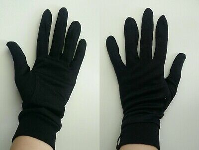100% Pure Silk  Gloves Liner Black Only Anti Spots