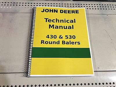 JOHN DEERE 530 Round Hay Baler Technical Service Shop Repair Manual