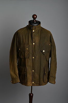Men's Barbour Vintage M12 International Waxed Jacket Size C46 / 117cm Genuine