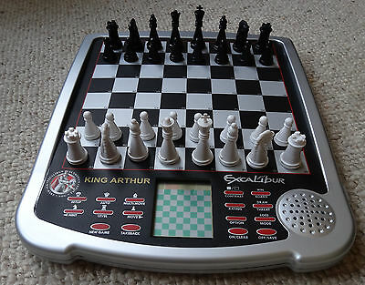EXCALIBUR King Arthur Advanced  Electronic CHESS Game [mint condition - boxed]