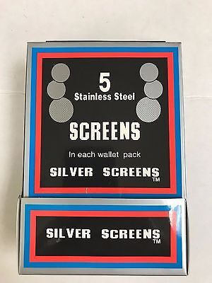 "100 Silver BRASS SCREENS 3/4"" .750 Pipe HEAVY DUTY TOBACCO"