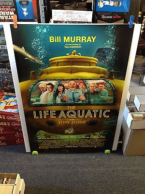 THE LIFE AQUATIC Movie Poster 27x40 One Sheet - Double Sided ** BILL MURRAY