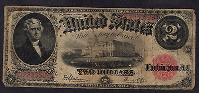$ FR60 US $2 Note, large bill, 1917, VG