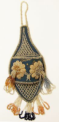 Iroquois Native American Beaded Whimsey Wall Pocket