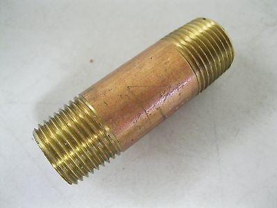 """Brand New Red Brass Threaded Nipple 1/2"""" X 2-1/2""""~Commercial Grade~Pipes~Fitting"""
