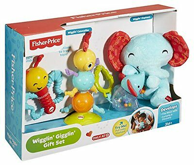 Fisher Price Wigglin Gigglin Gift Set Comforter Rattle Teether Baby Toys - New