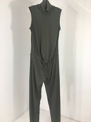 Missguided Maternity Women's Ribbed Slouch  Jumpsuit Khaki Green Us 6 Nwt $46